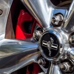 Detail eines Mustang GT 300/V8 auf der US Bikes & Cars in Grefrath.